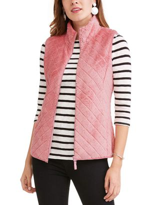 Time and Tru Quilted Sweater Vest