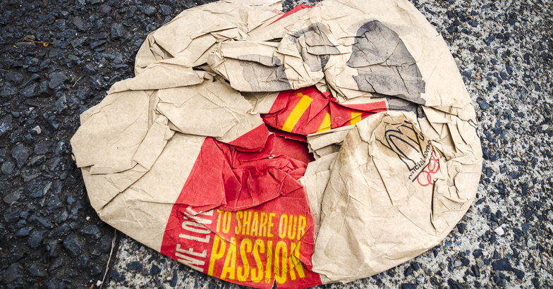 McDonald's trash on the street