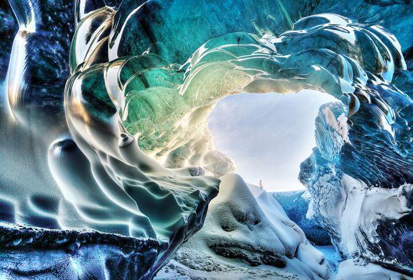Iceland's turquoise Ice