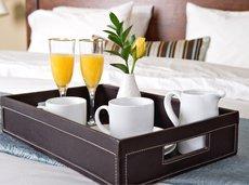 Hotel Breakfast in Bed Tray