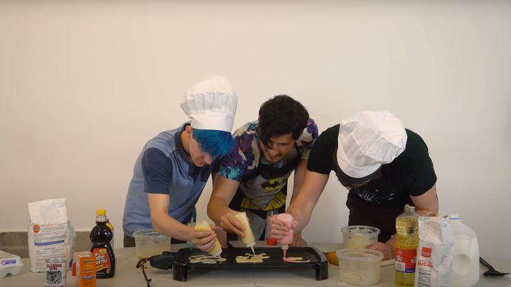 YouTubers Mark Fischbach, Ethan Nestor-Darling and Tyler Scheid