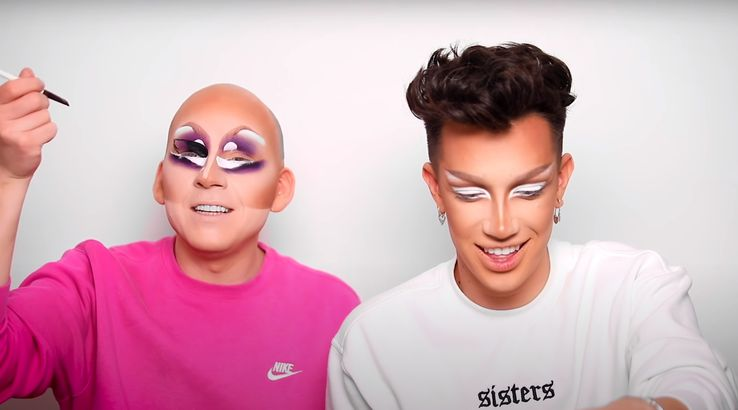 YouTuber James Charles and drag star Trixie Mattel
