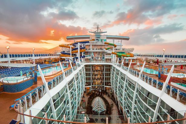 View of Royal Caribbean Cruise ship
