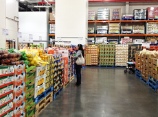 Woman shopping in a warehouse club store