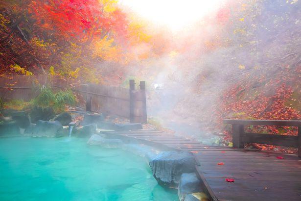 Fall in Yamagata Hot Springs, Japan