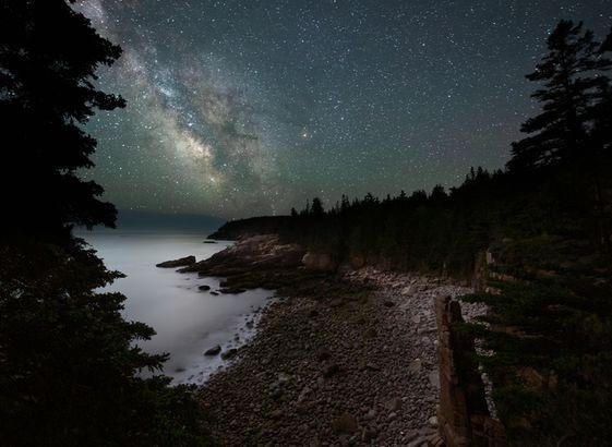 Acadia at night