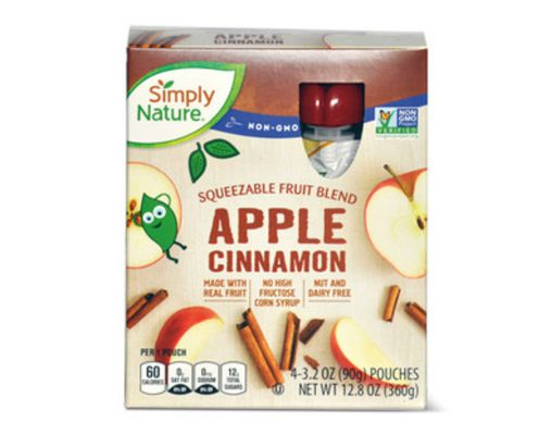 Simply Nature Apple Cinnamon Fruit Squeezies