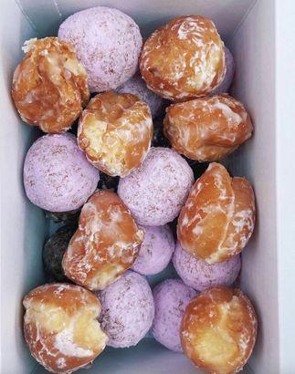 Dunkin's Berry Powdered Donut