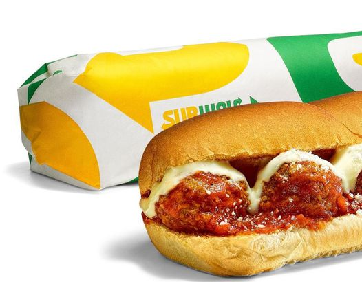 Subway's Beyond Meatball Marinara sub