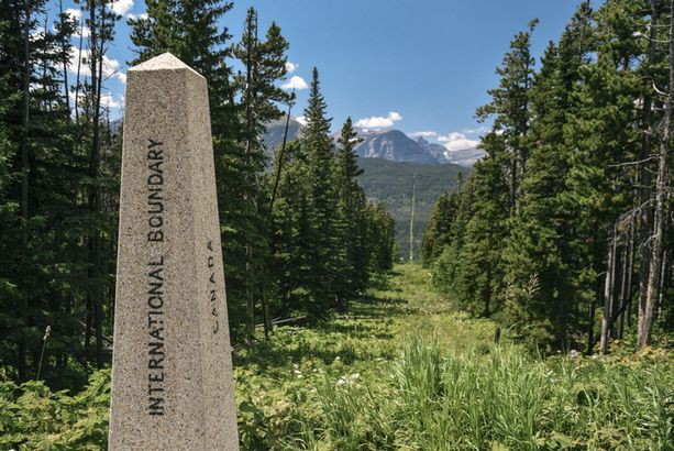 International boundary marker, Glacier National Park