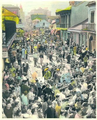 Bourbon Street crowd
