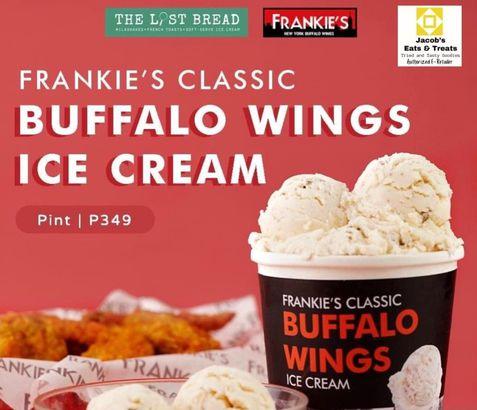 Jacob's Eats & Treats buffalo wings ice cream