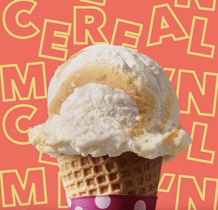 Baskin Robbins' Milk 'n Cereal ice cream
