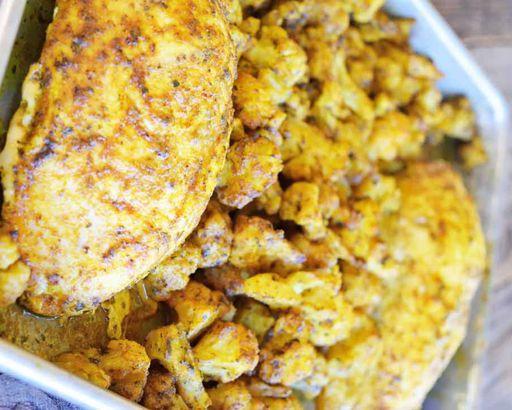 Sheet Pan Chicken And Cauliflower