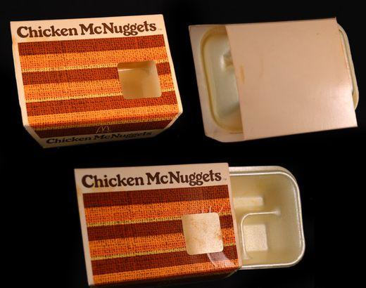 Original chicken McNugget packaging