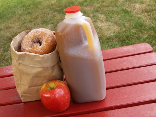 Cider and cider doughnuts