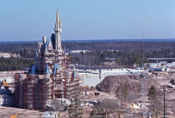 Disney World's Cinderella Castle Under Construction