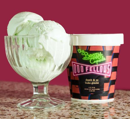 Odd Fellows' Gin and Coconut ice cream