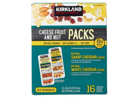 Kirkland Signature Cheese, Fruit & Nut Snack Packs