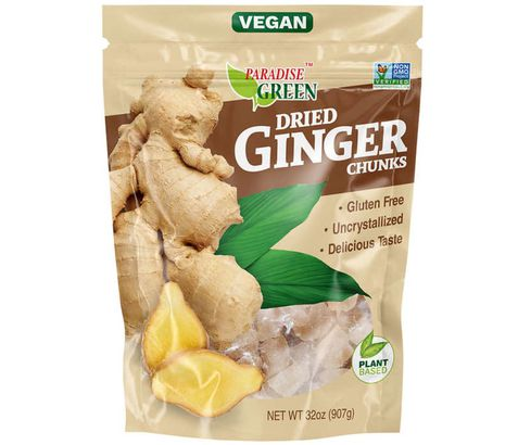 Paradise Green Dried Ginger Chunks