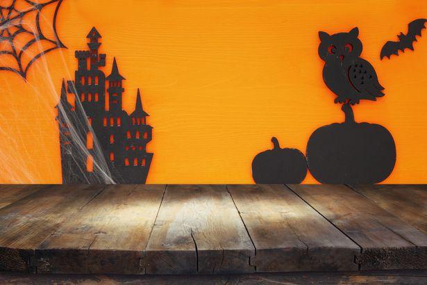Creepy silhouettes Halloween