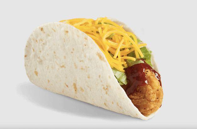Del Taco's BBQ Crispy Chicken Taco