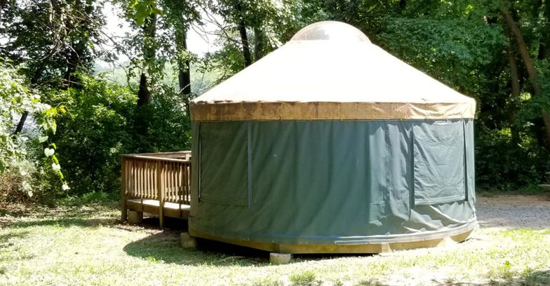 Delaware: Trap Pond State Park Campground Yurts