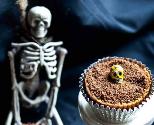 Clean Eating Graveyard Dirt Cupcakes