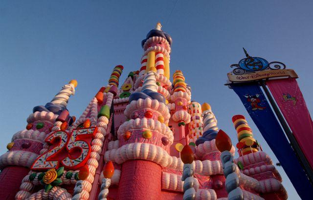 Disney World's 25th Anniversary Castle Cake