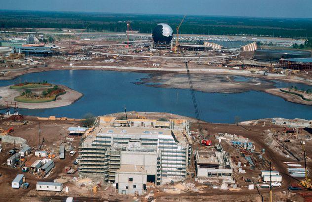 Disney World EPCOT Construction