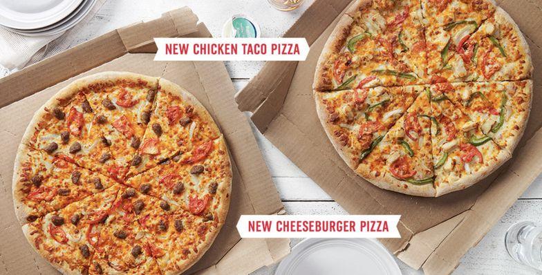 Domino's Chicken Taco and Cheeseburger pizzas