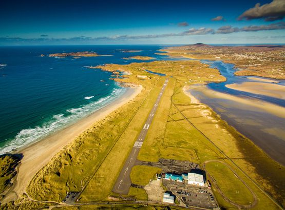 Donegal Airport, Ireland approach