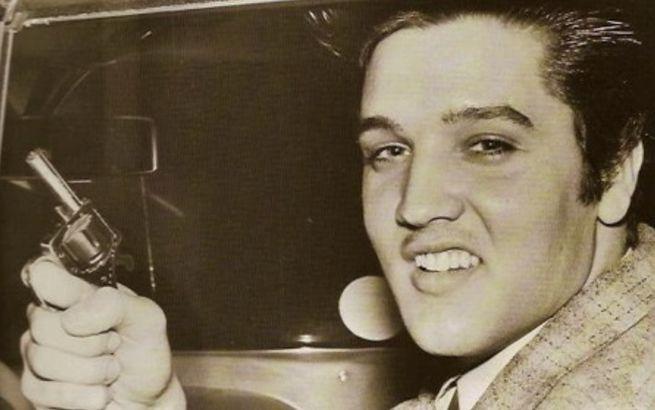 Elvis with a gun