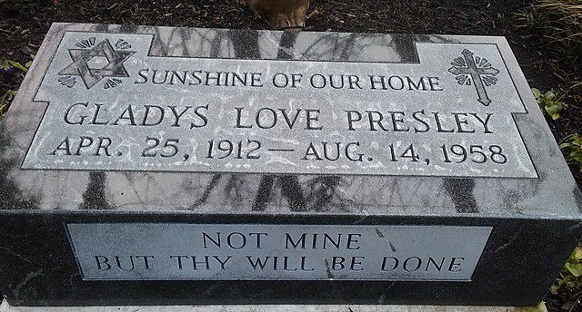 Elvis' mother's headstone