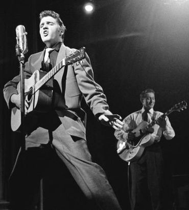 Elvis and Scotty Moore