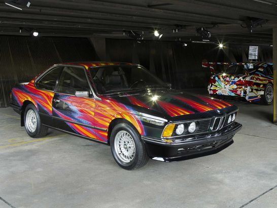 BMW art car designed by Ernst Fuchs