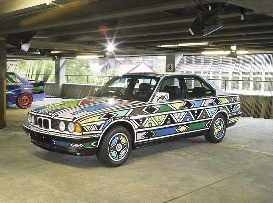 BMW art car designed by Esther Mahlangu
