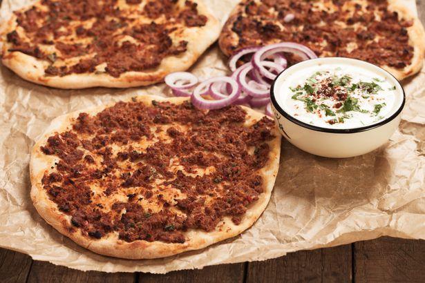 Pomegranate molasses pizza