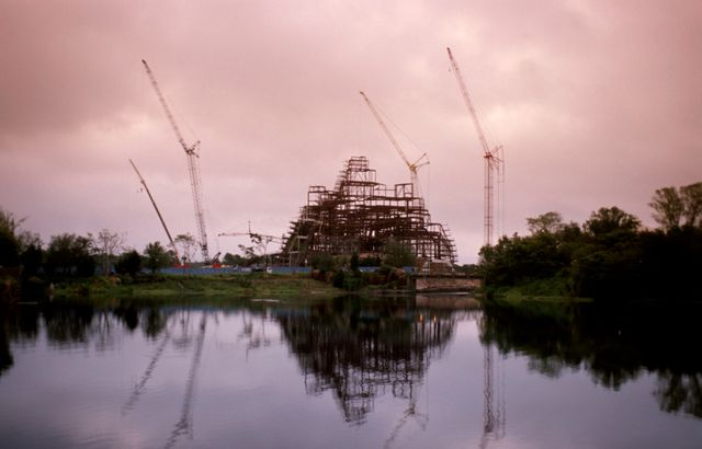 Disney World's Legend of the Forbidden Mountain Construction