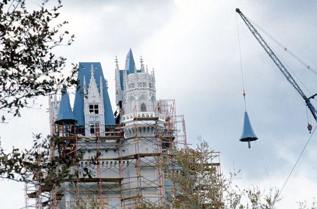 Disney World's Cinderella Castle finished