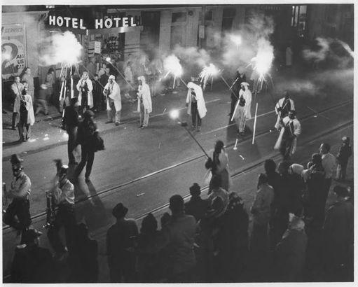 Flambeaux night parade, 1959