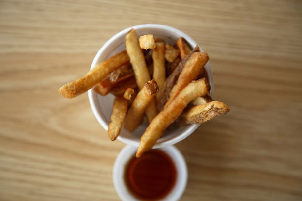 French fries with vinegar
