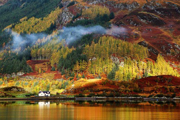 Fall in Highlands, Scotland