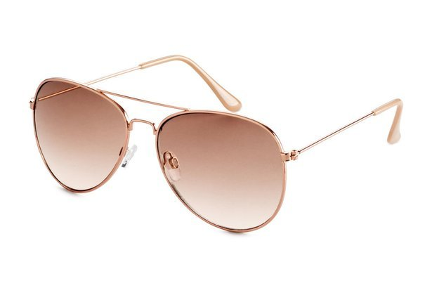 Women's rose gold aviator sunglasses