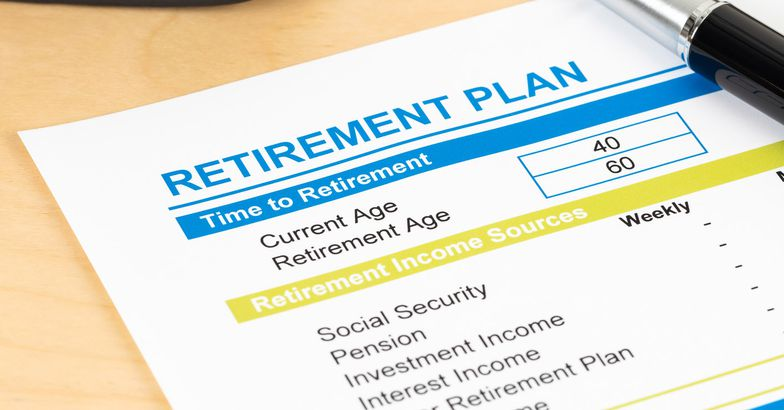 reitrement plan listing income sources including investment, social security, and pension