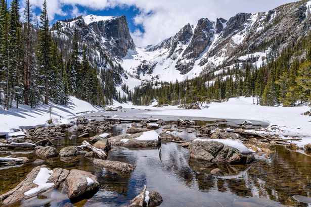 Dream Lake with Hallett Peak and Flattop Mountain