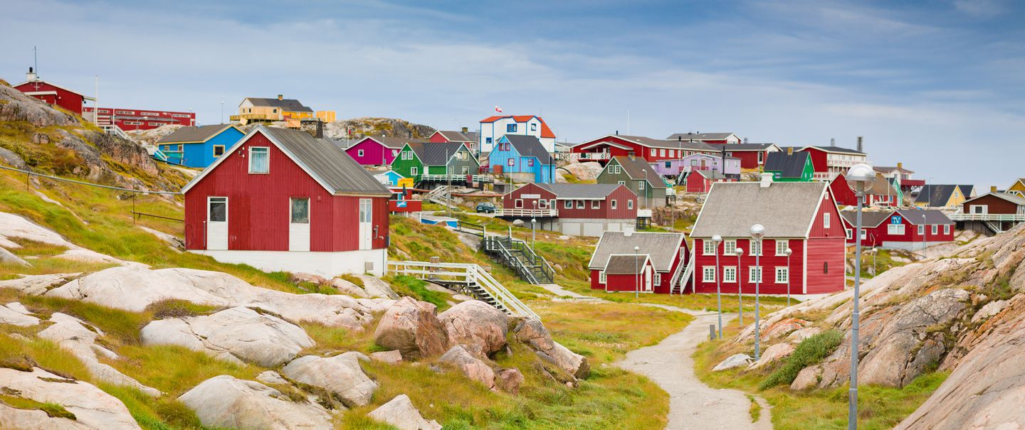 Greenland Ilulissat Colorful Town Cityscape View
