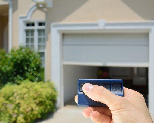 garage door opening with remote