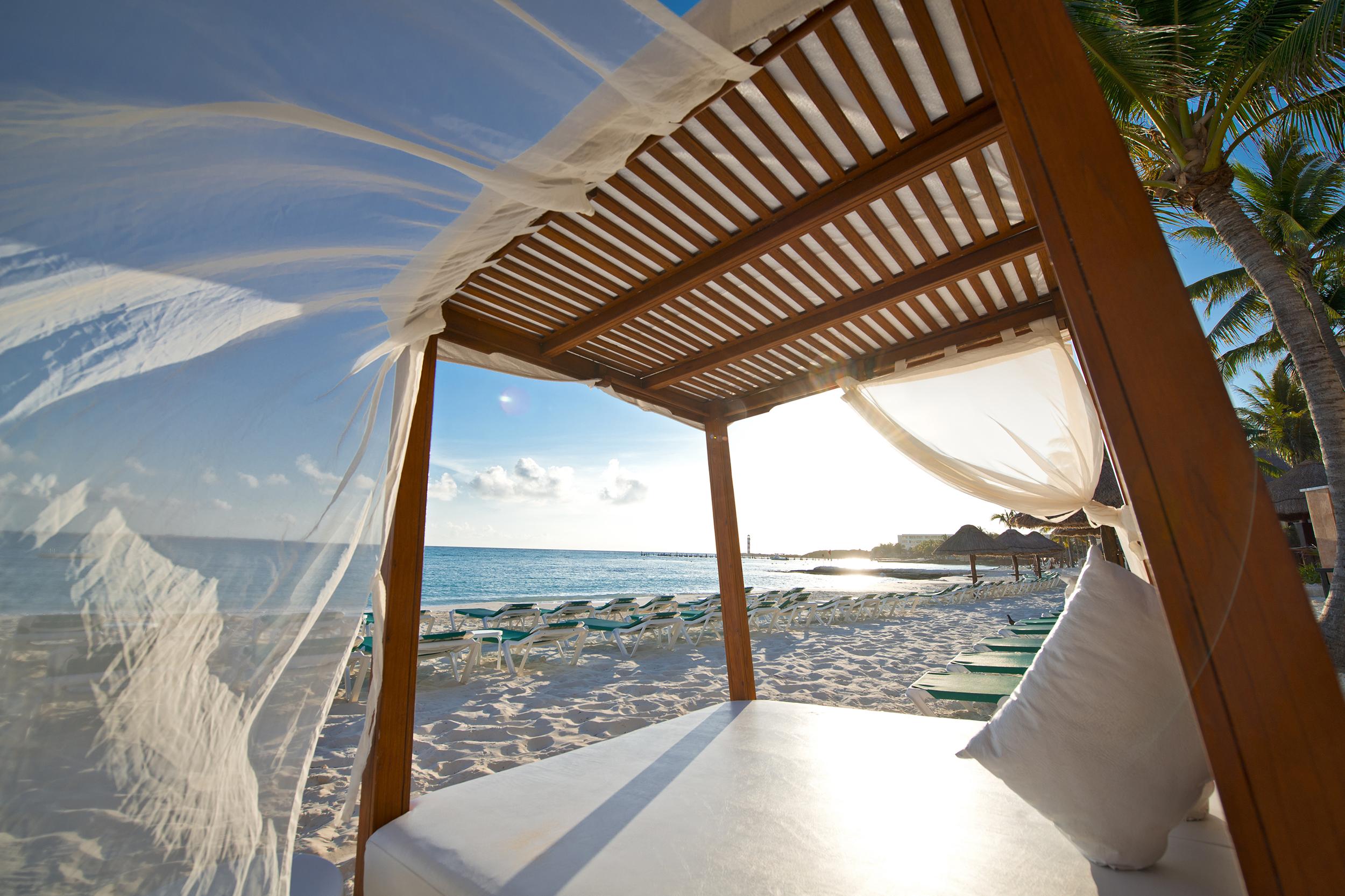 beach cabana in Mexico