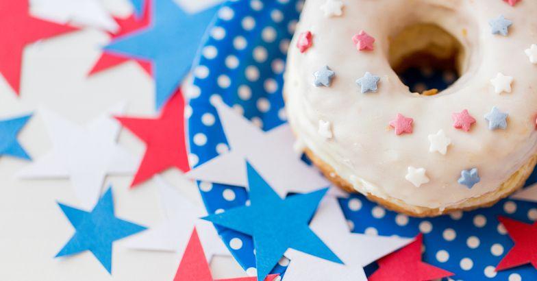 patriotic donut